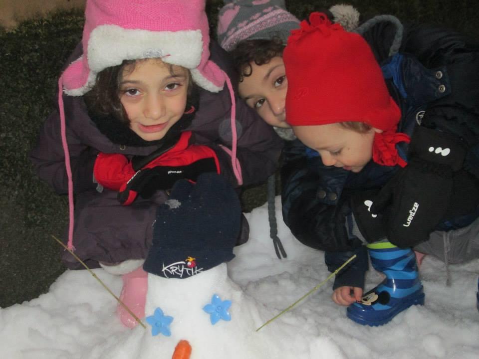 Voglio la neve a scuola e al parco!