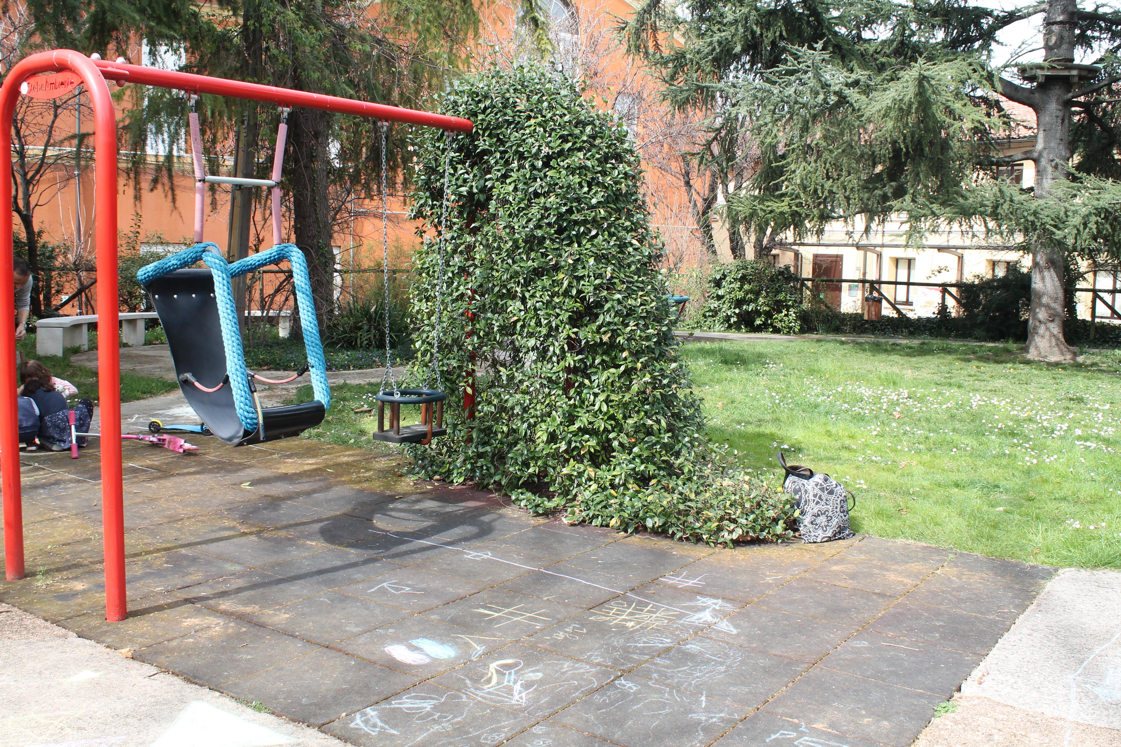 Il giardino accessibile sotto casa