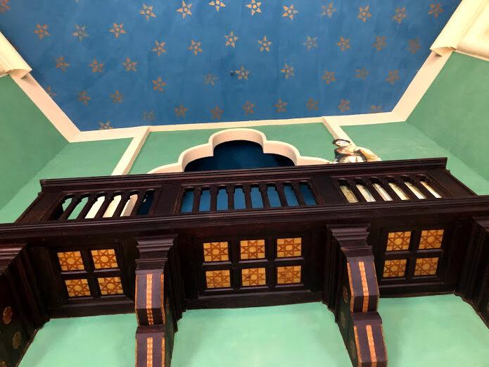 Il balcone all'interno della Sala dei 90