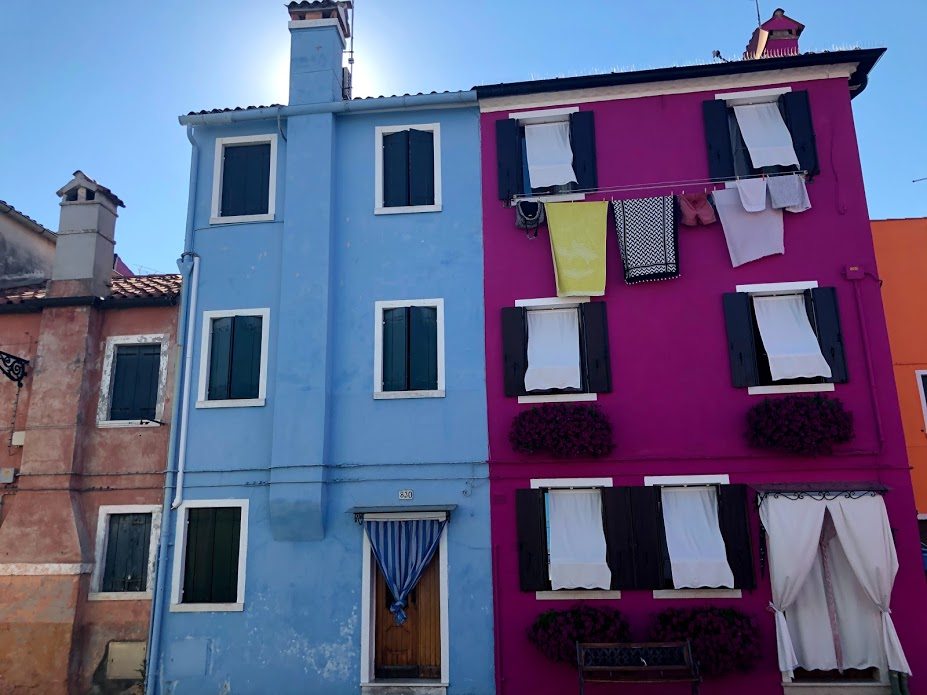 Burano, case colorate