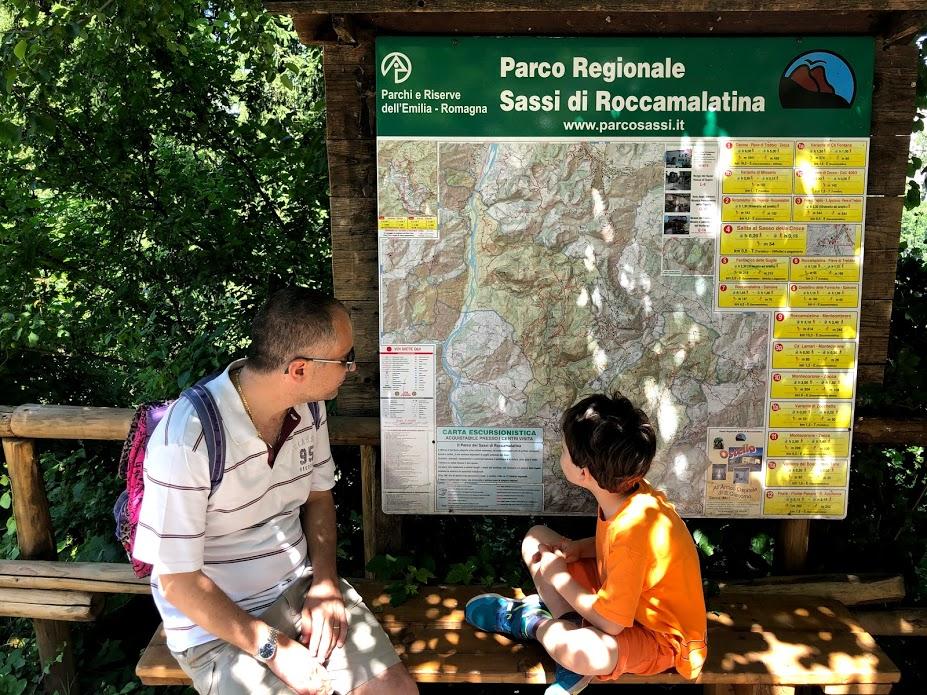 Mappa del parco dei sassi di roccamalatina